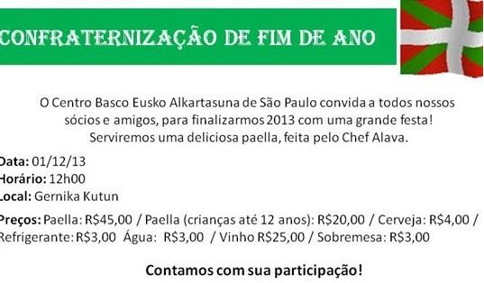 Confraternização de Fim de Ano do Centro Basco de São Paulo.
