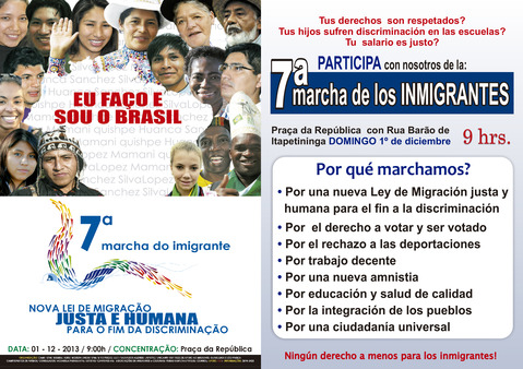 7ª Marcha do Imigrante.