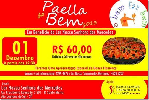 PAELLA DO BEM 2013.