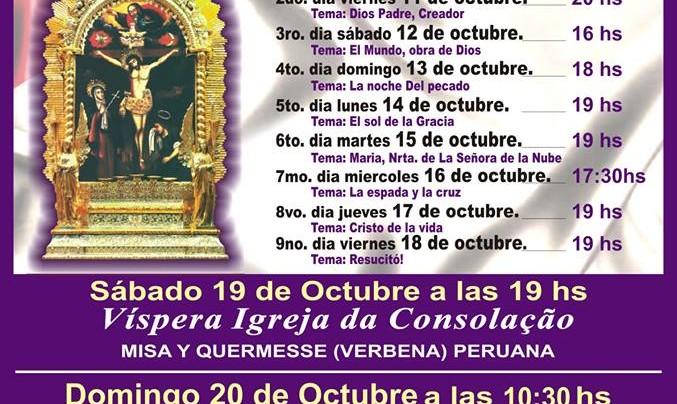 """Missa Solene em homenagem ao """"Senhor dos Milagres"""", patrono dos cidadãos peruanos em São Paulo."""