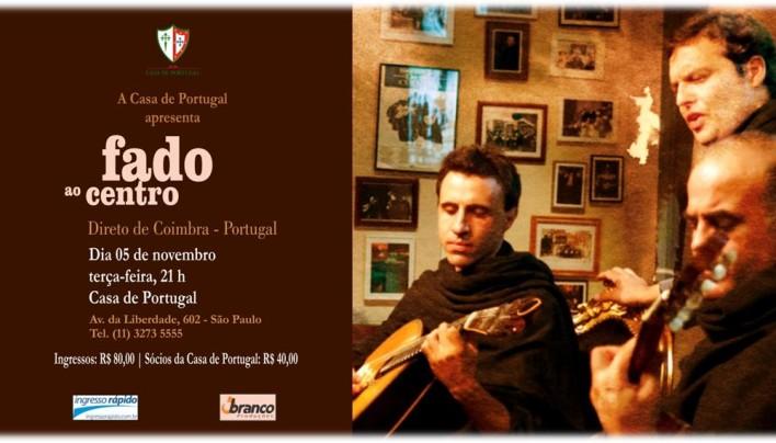 FADO AO CENTRO. Direto de Coimbra – Portugal.