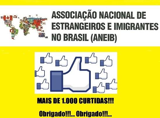 Facebook da Associação de Estrangeiros supera as 1.000,00 curtidas!