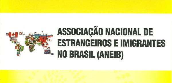 Logotipo da ANEIB: Associação Nacional de Estrangeiros e Imigrantes no Brasil