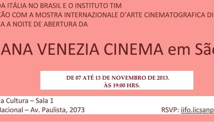 IX SEMANA VENEZA CINEMA EM SÃO PAULO.