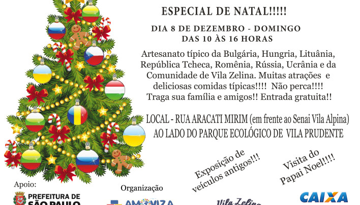 Feira do Leste Europeu – Especial do Natal.