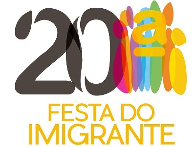 20ª FESTA DO IMIGRANTE: 14, 20 E 21/06/2015
