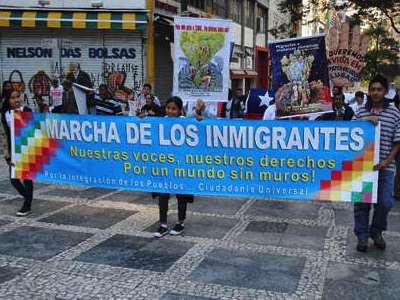 9ª MARCHA DOS IMIGRANTES – FRONTEIRAS LIVRES: 29/11/2015