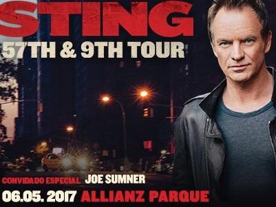 STING 57TH & 9TH – TOUR NO BRASIL: 06/05/2017