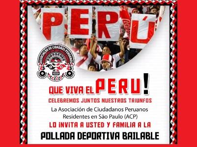 PERUANOS: ACTIVIDAD DEPORTIVA Y GASTRONÓMICA: 02/12/2017