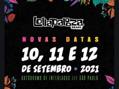ESTRANGEIROS NO LOLLAPALOOZA BRASIL: 10 À 12/09/21