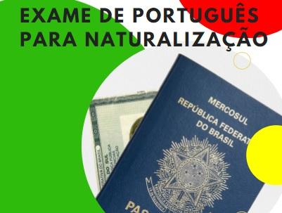 EXAME DE PORTUGUÊS PARA NATURALIZAÇÃO